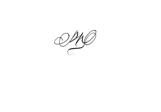 Calligraphy tattoo initials PM, calligraphic tattoos designs, tattoo initial calligraphy, gestural calligraphy, gestual calligraphy, french calligrapher, calligraphic handwriting tattoo style, calligraphe paris, calligraphie paris